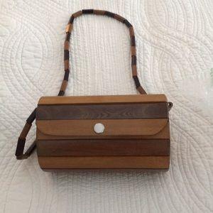 Wood Slat small purse